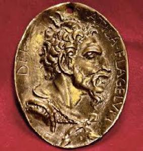 Medalla conmemorativa de Atila rey de los Hunos.
