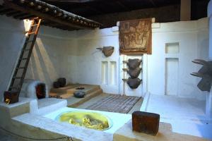 Interior de una de las casas.