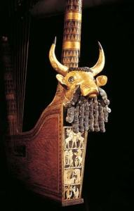 Lira encontrada en una de las tumbas Reales
