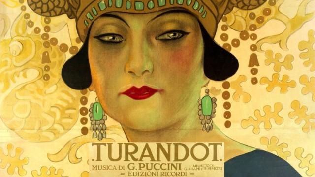 Cartel Original de Turandot 1926